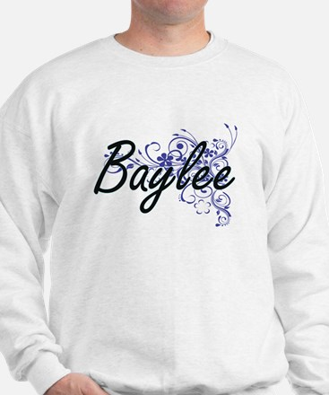 Baylee Artistic Name Design with Flower Sweatshirt
