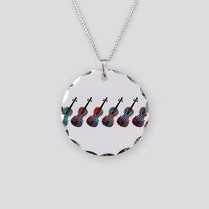 ViolaLineupredblue0015 Necklace Circle Charm