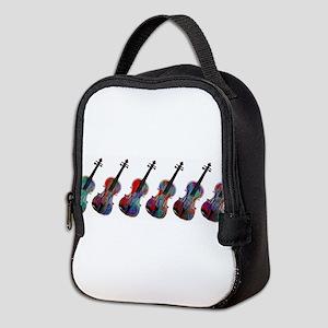 ViolaLineupredblue0015 Neoprene Lunch Bag