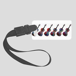 ViolaLineupredblue0015 Small Luggage Tag
