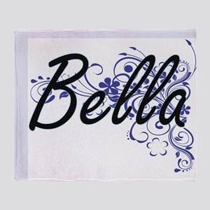 Bella Artistic Name Design with Flow Throw Blanket