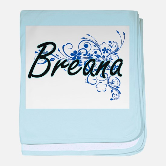 Breana Artistic Name Design with Flow baby blanket