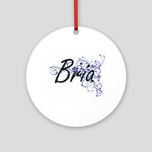 Bria Artistic Name Design with Flow Round Ornament