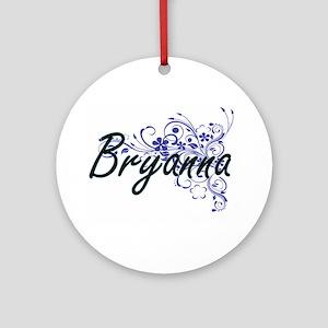 Bryanna Artistic Name Design with F Round Ornament