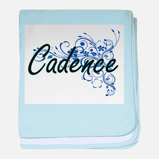 Cadence Artistic Name Design with Flo baby blanket