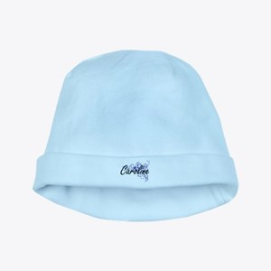 Caroline Artistic Name Design with Flower baby hat