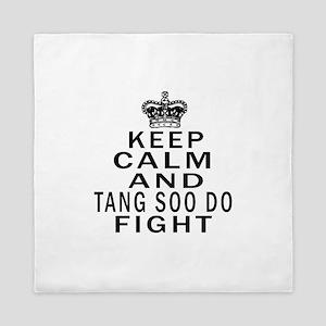 Keep Calm And Tang Soo do Fight Queen Duvet