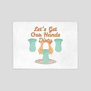 Get Hands Dirty 5'x7'Area Rug