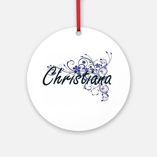 Christiana Artistic Name Design wit Round Ornament