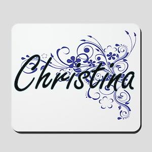 Christina Artistic Name Design with Flow Mousepad