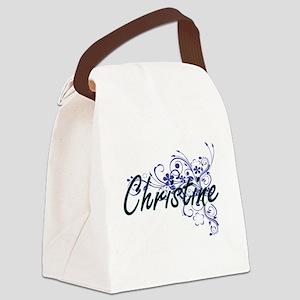 Christine Artistic Name Design wi Canvas Lunch Bag