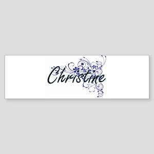 Christine Artistic Name Design with Bumper Sticker