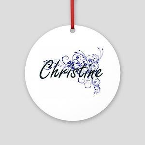 Christine Artistic Name Design with Round Ornament