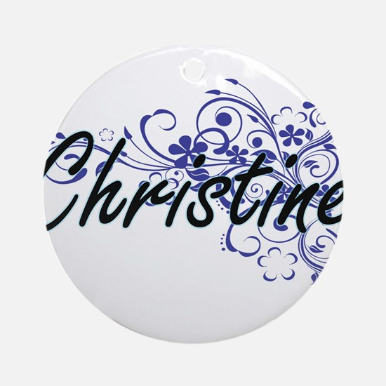 Christine Artistic Name Design with Round Ornament