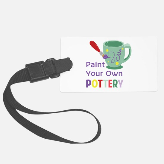 Paint Pottery Luggage Tag
