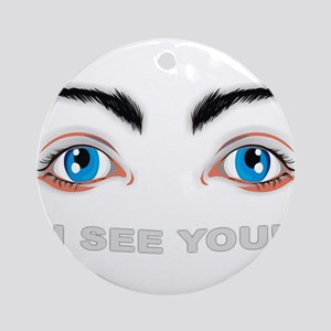 eyes Round Ornament