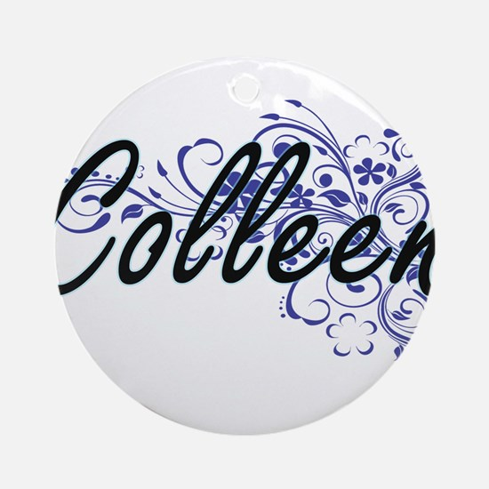 Colleen Artistic Name Design with F Round Ornament