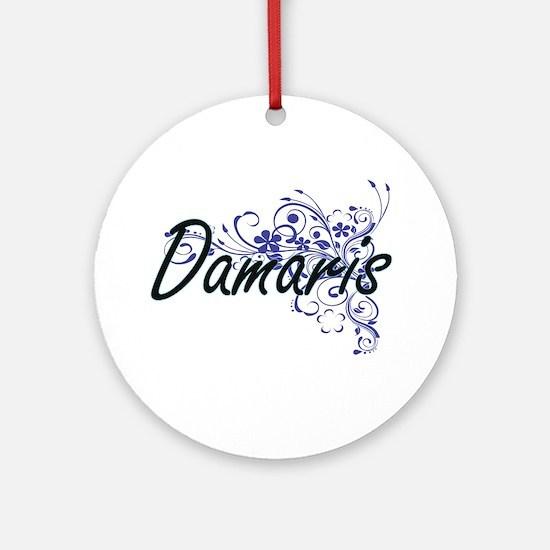 Damaris Artistic Name Design with F Round Ornament