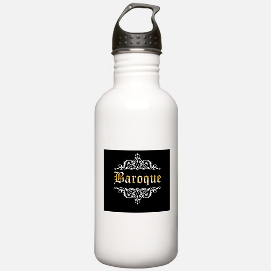Baroque white Sports Water Bottle