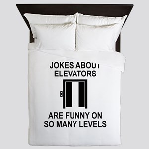 Jokes About Elevators Queen Duvet