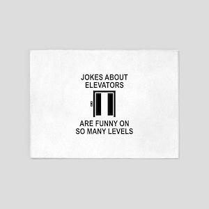 Jokes About Elevators 5'x7'Area Rug