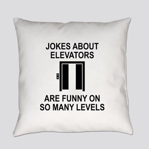 Jokes About Elevators Everyday Pillow