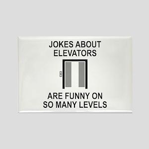 Jokes About Elevators Rectangle Magnet