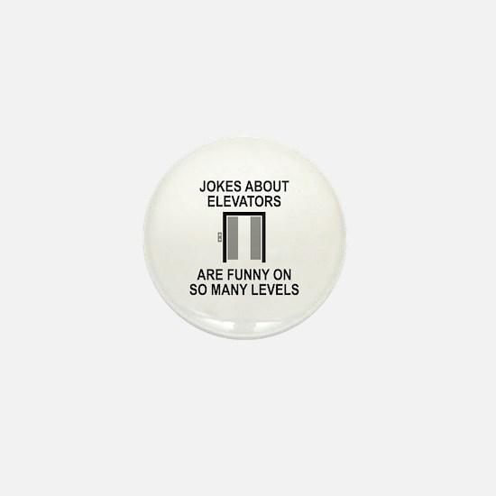 Jokes About Elevators Mini Button