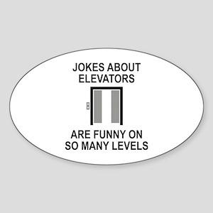 Jokes About Elevators Sticker (Oval)