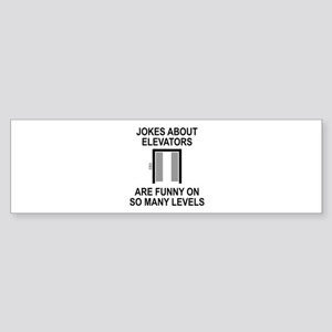 Jokes About Elevators Sticker (Bumper)
