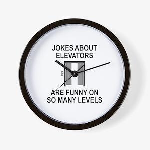 Jokes About Elevators Wall Clock
