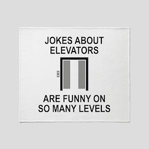 Jokes About Elevators Stadium Blanket