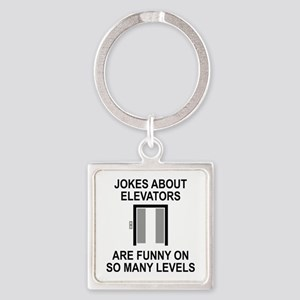Jokes About Elevators Square Keychain