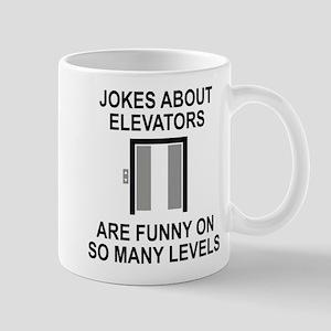 Jokes About Elevators Mug