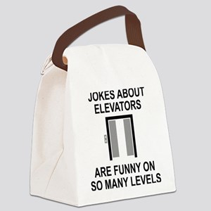 Jokes About Elevators Canvas Lunch Bag