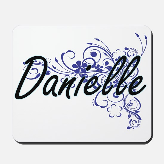 Danielle Artistic Name Design with Flowe Mousepad