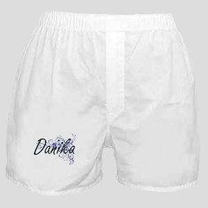 Danika Artistic Name Design with Flow Boxer Shorts