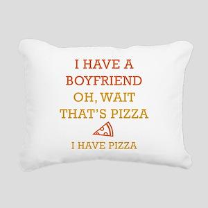 I Have Pizza Rectangular Canvas Pillow