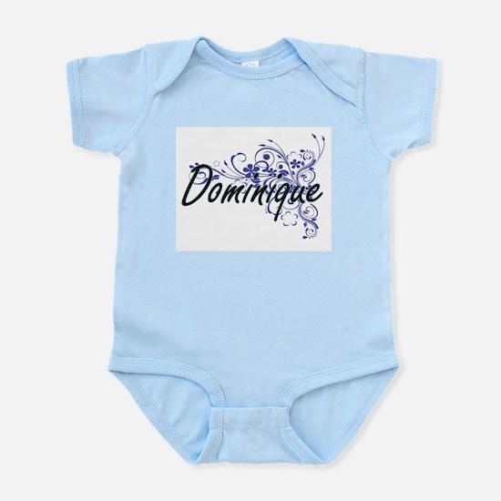 Dominique Artistic Name Design with Flow Body Suit