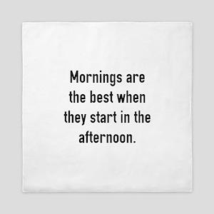 Mornings Are The Best Queen Duvet