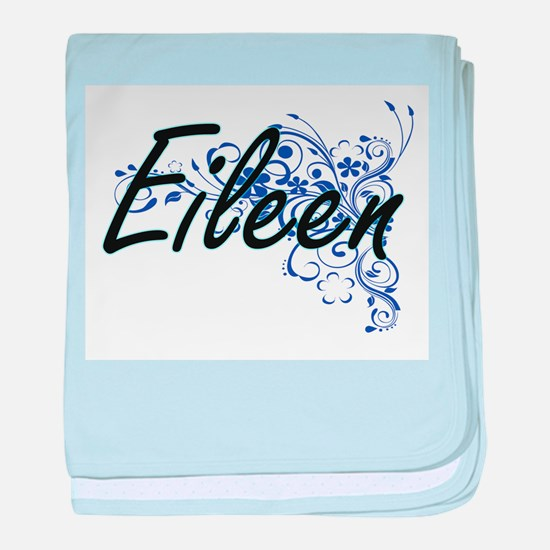 Eileen Artistic Name Design with Flow baby blanket
