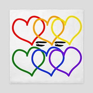 Love = Love Rainbow Hearts Queen Duvet