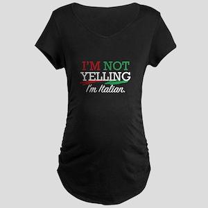 I'm Italian Maternity Dark T-Shirt