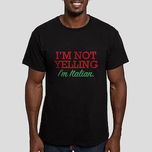 I'm Italian Men's Fitted T-Shirt (dark)