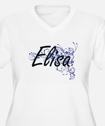 Elisa Artistic Name Design with Plus Size T-Shirt