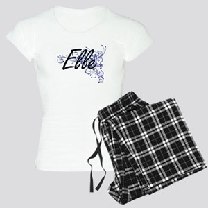 Elle Artistic Name Design w Women's Light Pajamas