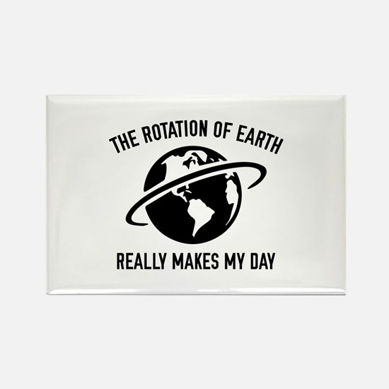 The Rotation Of The Earth Rectangle Magnet