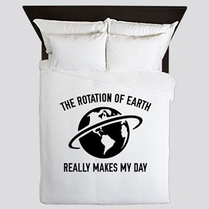 The Rotation Of The Earth Queen Duvet