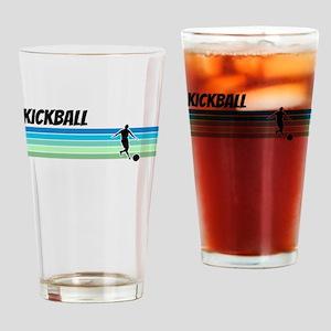 Retro 1970s Kickball Drinking Glass