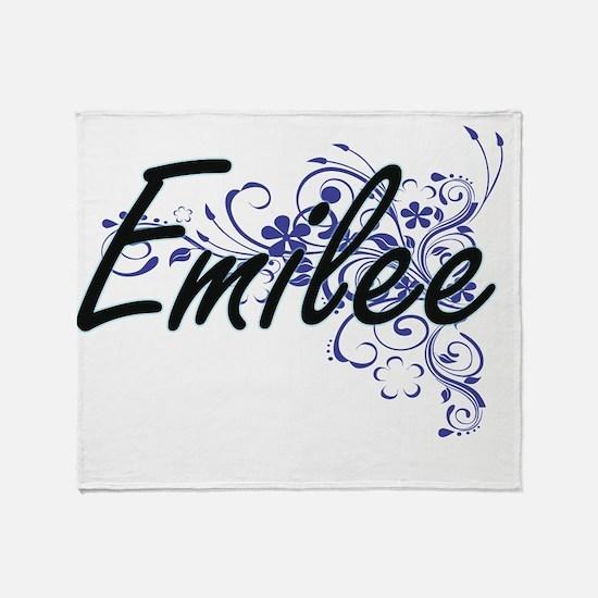Emilee Artistic Name Design with Flo Throw Blanket